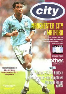 watford home fa cup 1996 to 97 prog