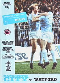 watford home fa cup 2nd replay 1985 to 86 prog