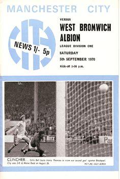 wba home 1970-71 programme