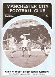 wba home 1972-73 programme