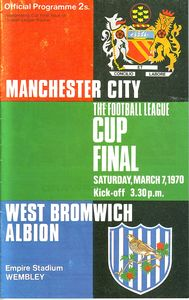 wba league cup final 1969 to 70 prog