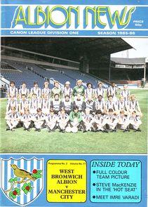 west brom away 1985 to 86 prog