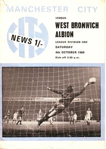 west brom home 1969-70 PROGRAMME