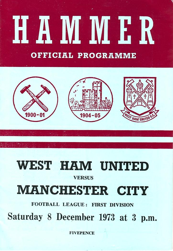 whu away 1973 to 74 prog
