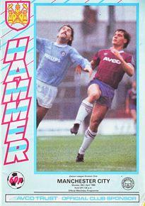 west ham away 1985 to 86 prog