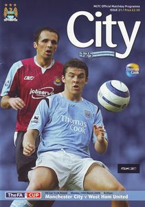 west ham home fa cup 2005 to 06 prog