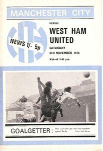 whu home 1970-71 home programme
