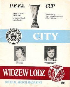 widzew lodz home 1977 to 78 prog