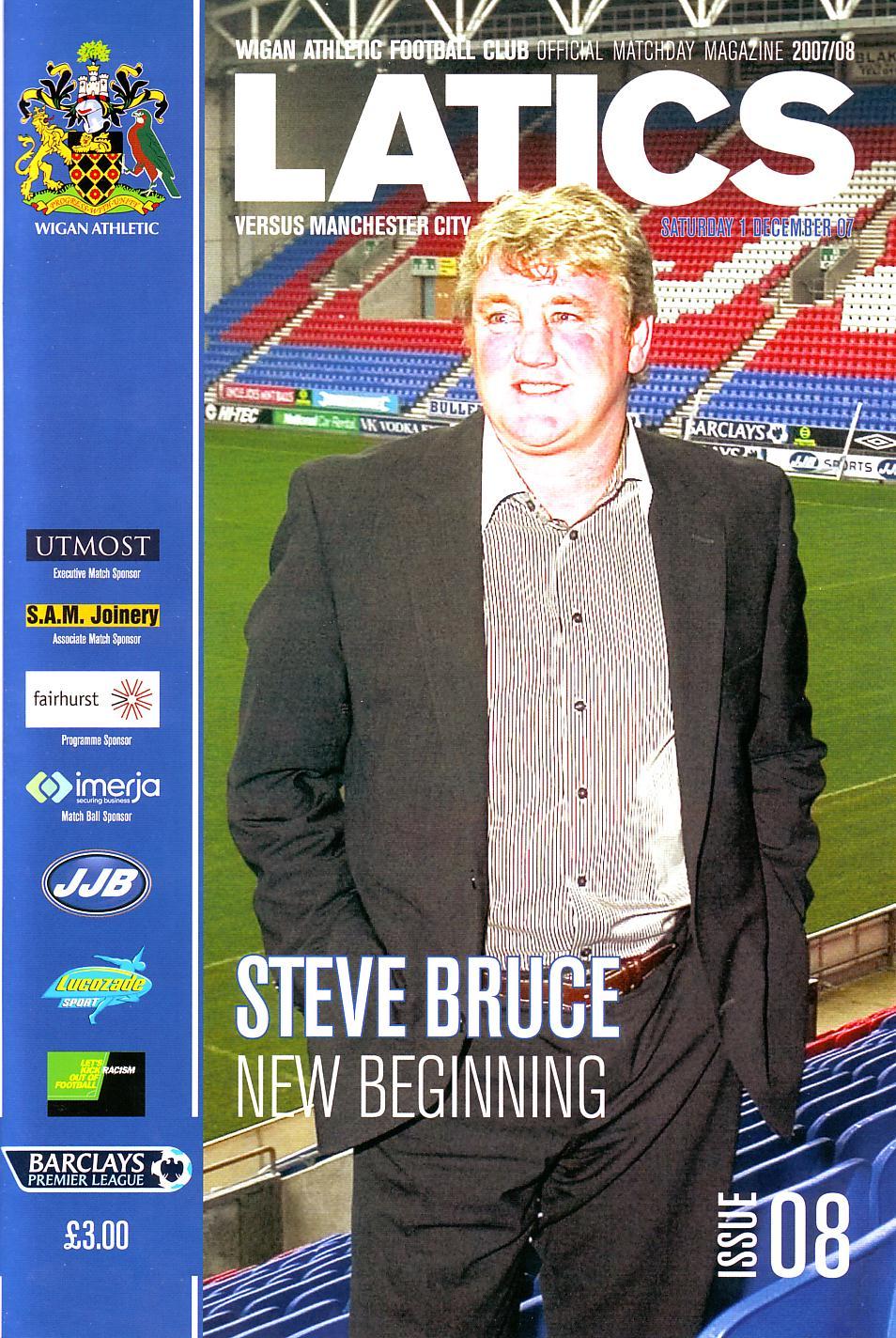 Wigan away 2007to08 prog