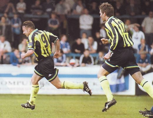 wigan away play off 1998 to 99 dickov goal