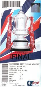wigan fa cup final 2012 to 13 ticket