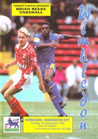 wimbledon away 1992 to 93 prog