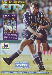 wimbledon home 1992 to 93 prog