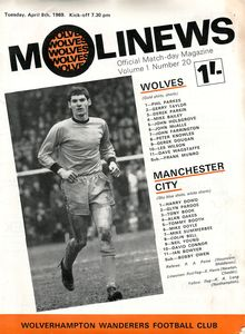 wolves away 1968 to 69 prog