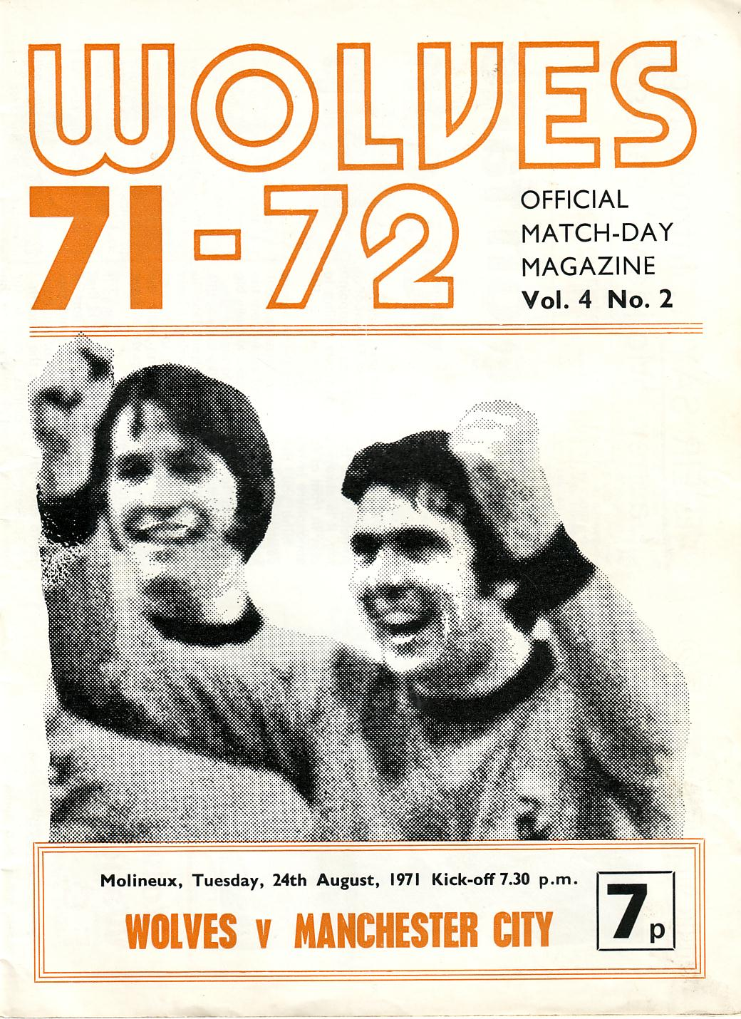 wolves away 1971 to 72 prog