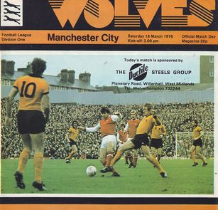 wolves away 1977 to 78 prog