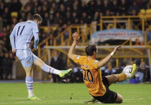 wolves away league cup 2011 to 12 johnson goal