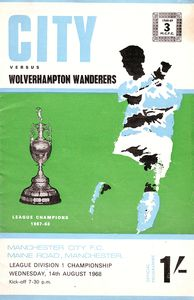 wolves home 1968 to 69 prog
