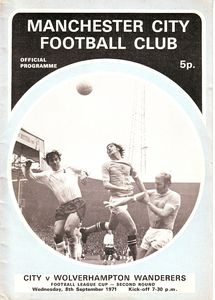 wolves home league cup 1971 to 72 proga